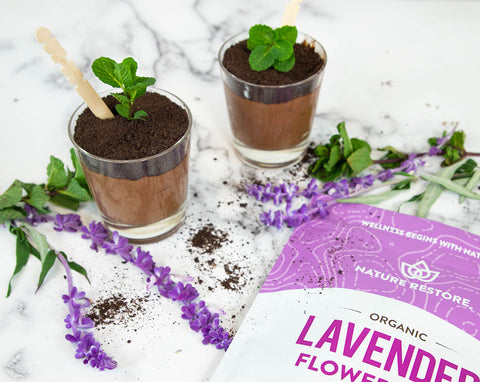 organic lavender flower recipes chocolate pudding cups