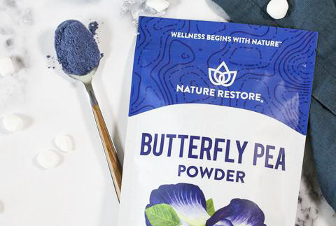 Nature Restore Butterfly Pea Powder- natural blue food coloring powder