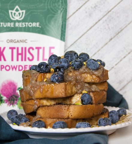 Milk thistle detox french toast recipe