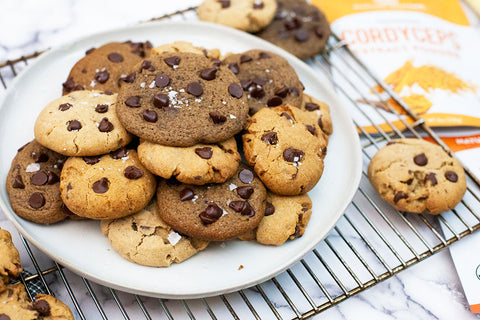 chocolate chip cookie recipe with medicinal mushrooms functional foods - homemade cookies