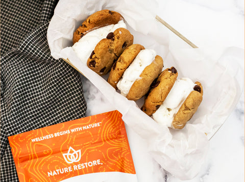 Nature Restore Reishi Powder Recipe - ice cream cookie sandwiches