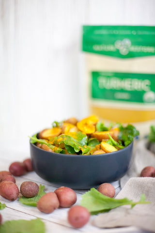 Turmeric potato salad recipe