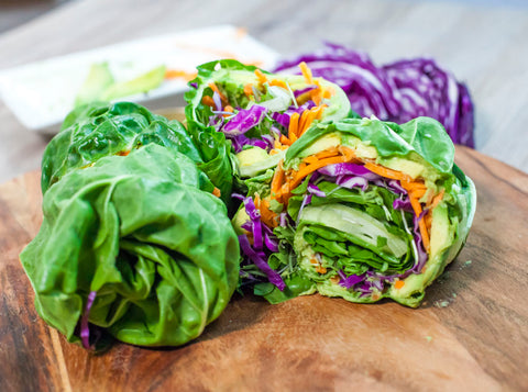 Homemade Healthy Hummus Wraps Vegan