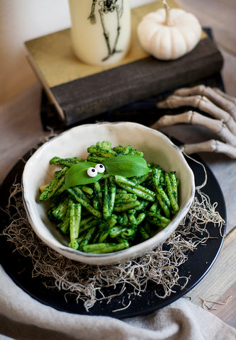 Healthy Halloween Dinner pesto recipe