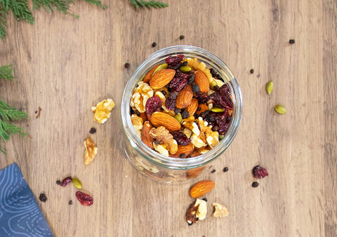 Antioxidant trail mix recipe with Nature Restore Bilberries