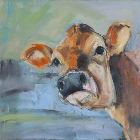 """Little Lady"" Cow print by Sue Moffitt - 310gsm paper - Limited edition of 75"