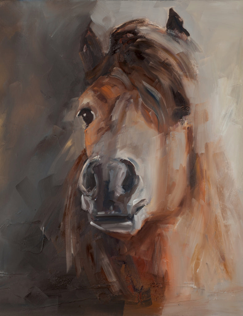 """Mattie"" Horse on canvas by Sue Moffitt - 340gsm Canvas - Limited edition of 75"
