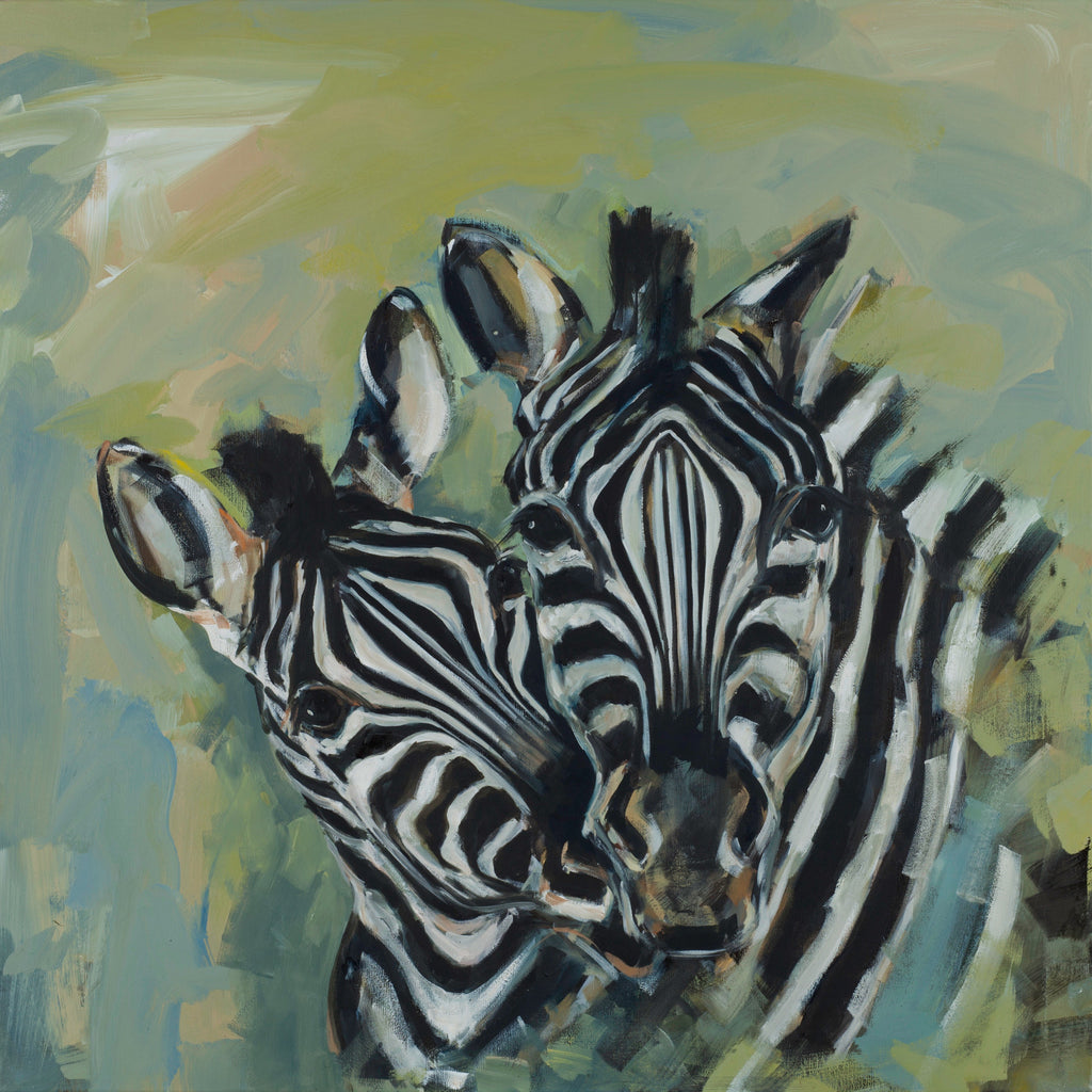 """Eusi & Eupe"" Zebra print by Sue Moffitt - 310gsm paper - Limited edition of 75"