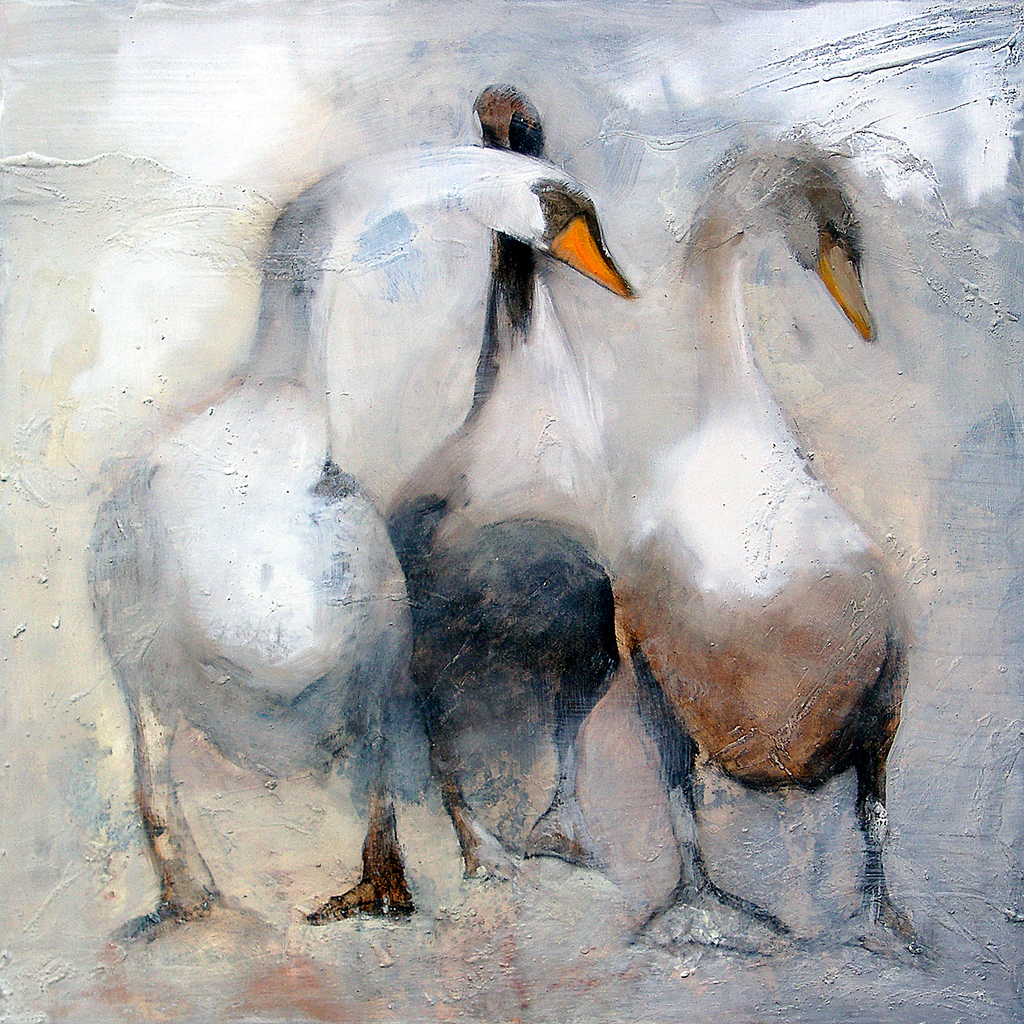 """Eagle, Swanhild and Foam"" Swans print by Sue Moffitt - 310gsm paper - Limited edition of 75"