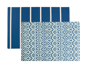 ikat + stripe - navy