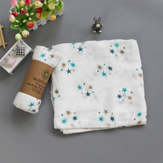 Muslin Swaddle Blankets 100% Cotton 120x120cm Receiving Blanket Unisex