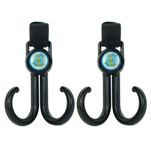 Pram hooks-Black buggy hooks for hanging nappy bags, handbags,