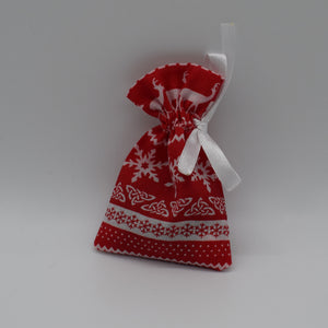 Handmade lavender bag, Christmas design