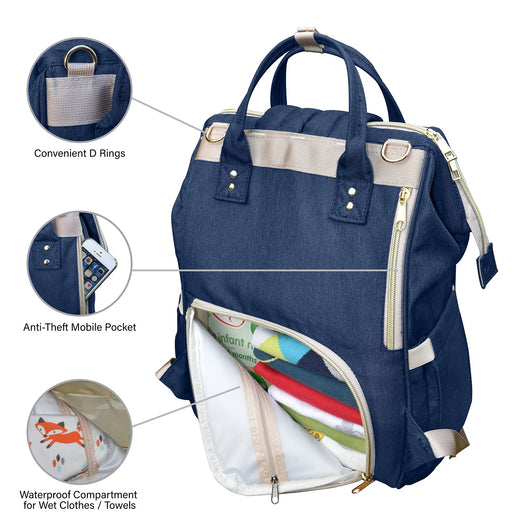 777809076db8 Nappy Changing Bag Backpack Oxford Fabric, Baby Diaper Bag Nappy bag ...