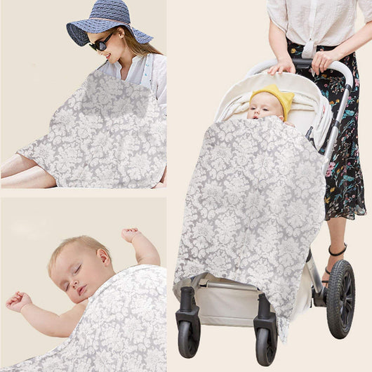 Breastfeeding Cover with Adjustable Strap * 100% Premium Cotton * Boned Nursing Cover * Breathable & Lightweight
