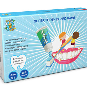 Super Tooth Educational Board Game for Toddlers and Preschoolers