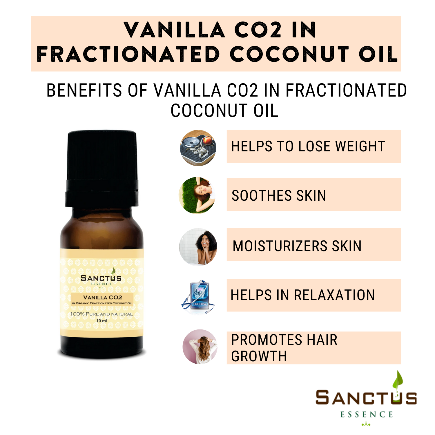 Vanilla CO2 in Organic Fractionated Coconut Oil
