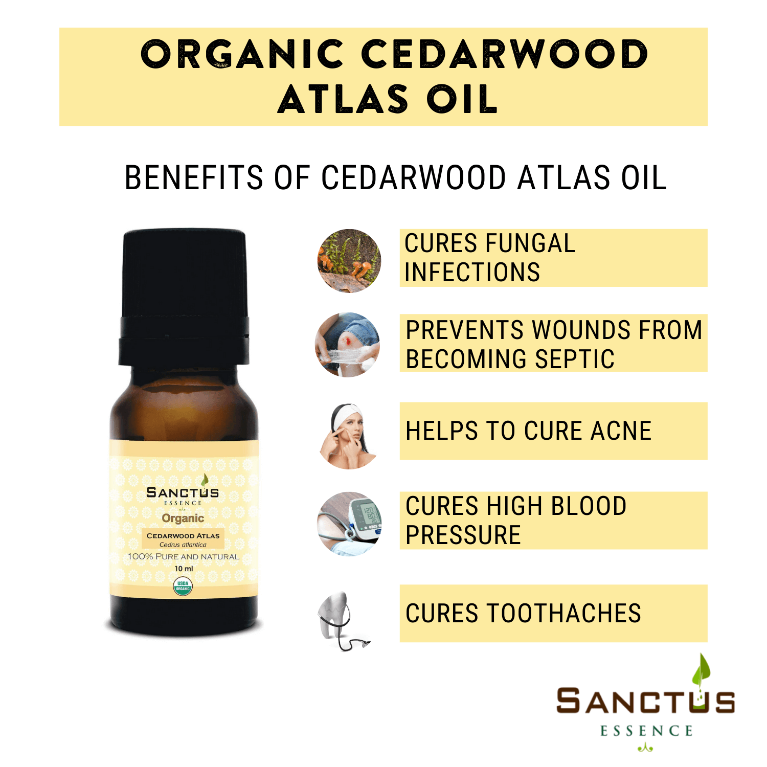 Organic Cedarwood Atlas Oil