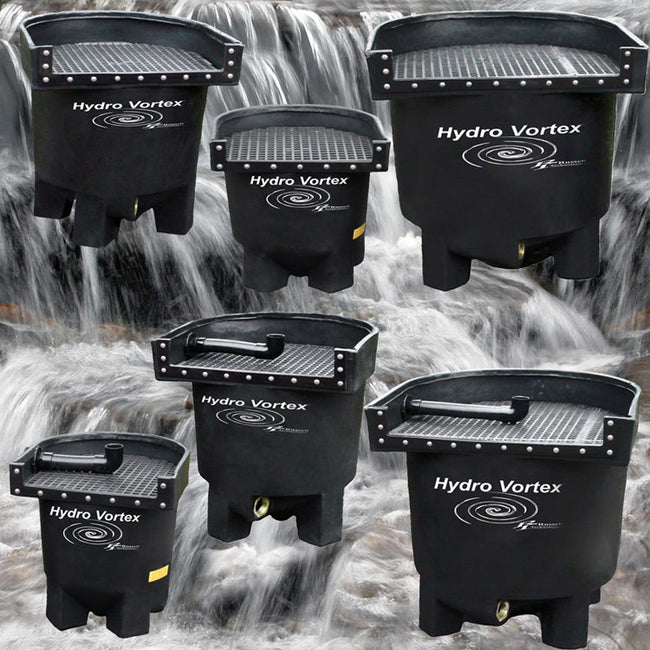 Hydro Vortex™ easy to clean, completely backwashable waterfall filters.