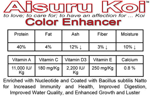 Aisuru Koi™ Color Enhancer Koi Food
