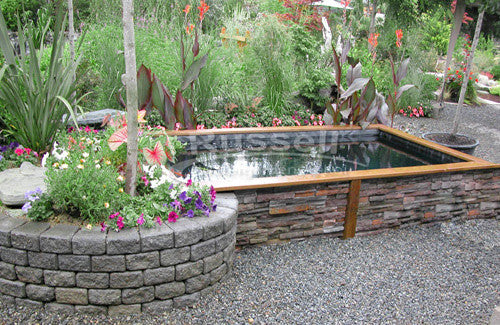 How to build a koi pond easy to follow instructions for Wooden koi pond construction