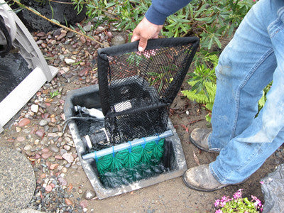 HydroClean pond skimmers are easy to clean