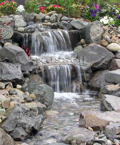 Ahi Series small pondless waterfall with 5 ft. stream kit