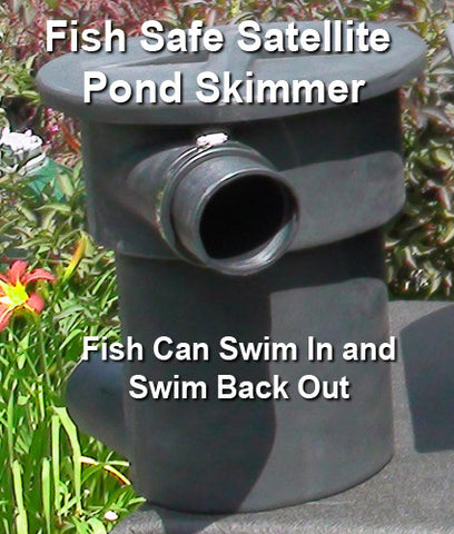 The HydroSieve compact satellite pond skimmer is fish safe