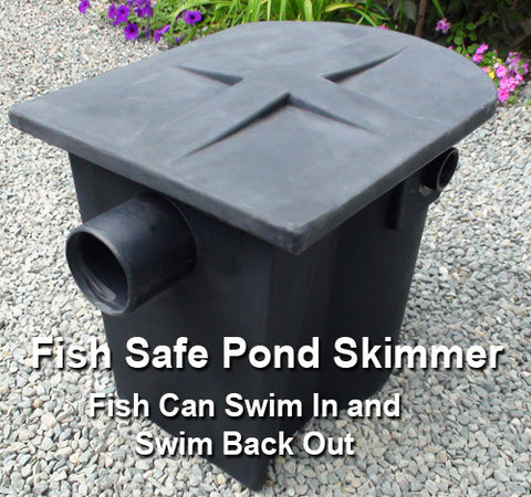 Fish safe small pond skimmer