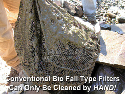 The truth about annually cleaned waterfall filters - they can only be cleaned by hand