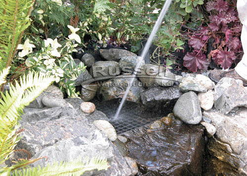 Manually backwashing the Dolphin Hydro Vortex™ waterfall filter included with the Ultimate large pondless waterfall kit