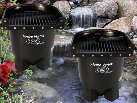Ahi Hydro Vortex™ small waterfall filters with your choice of backwash options