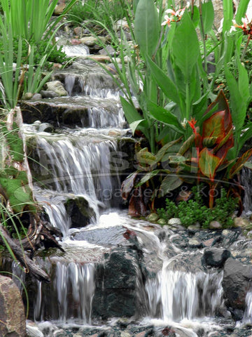 A Marlin Hydro Vortex™ medium waterfall filter lets you build beautiful and easy to maintain pondless waterfalls.