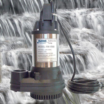 RW-1800 Professional Submersible Pond and Waterfall Pump