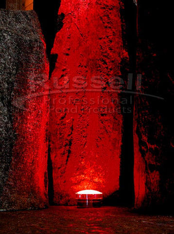 Red LED Amphibious Underwater and Landscape Light Fixture