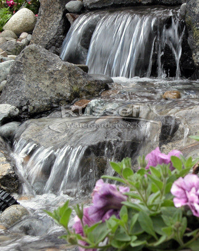 Dolphin series large pondless waterfall with 5' stream kit is easy to clean and maintain