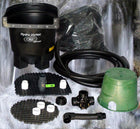 Ahi Hydro Vortex™ easy to clean small waterfall filter HydroFlush™ self-cleaning backwash system.