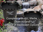 Ahi Hydro Vortex™ easy to clean small waterfall filters with your choice of backwash options.