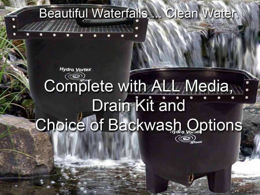 Dolphin Hydrotex™ easy to clean large waterfall filters with you choice of backwash options.