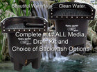 Marlin Hydro Vortex™ easy to clean medium waterfall filters with choice of backwash options.