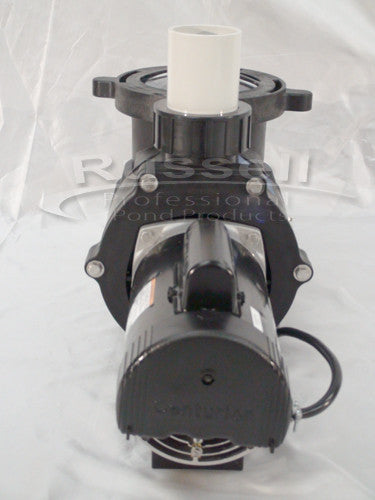C-9000-3B high flow self priming external pond pump is fan cooled