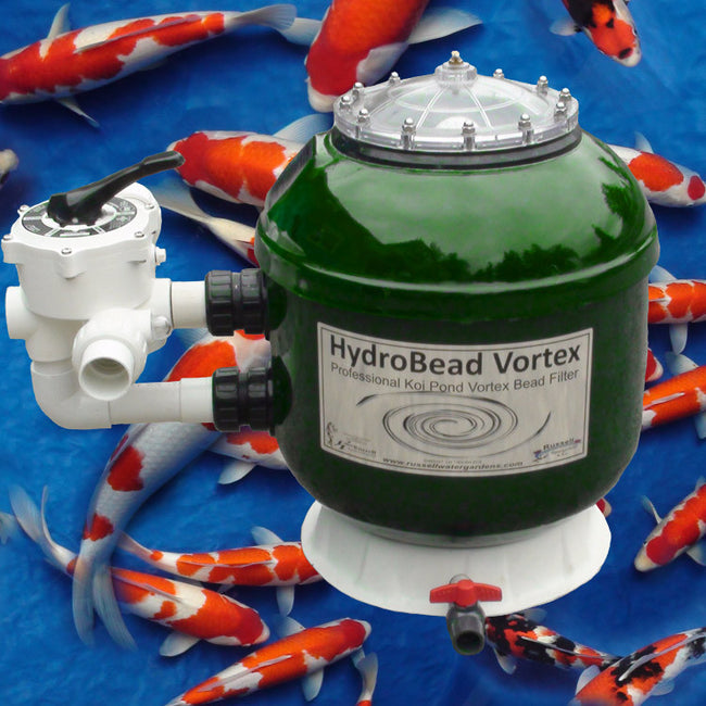 HBV-18 HydroBead Vortex small koi pond filter