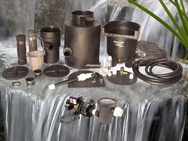Marlin Series Ultimate pondless waterfall kit with C-3600-B External Pump and Manual Backwash