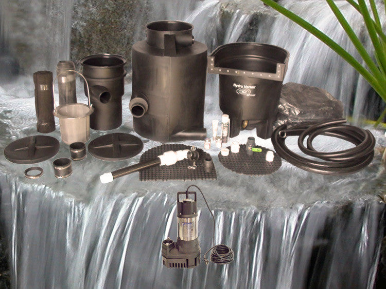 Marlin Series Ultimate pondless waterfall kit with RW-2800 Pump and Manual Backwash