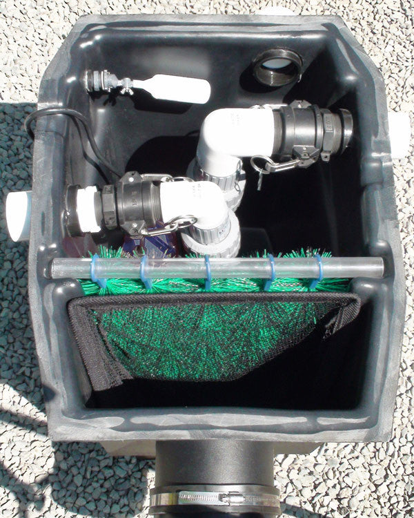 Medium pond skimmer piper hydroclean fish safe for Koi pond skimmer