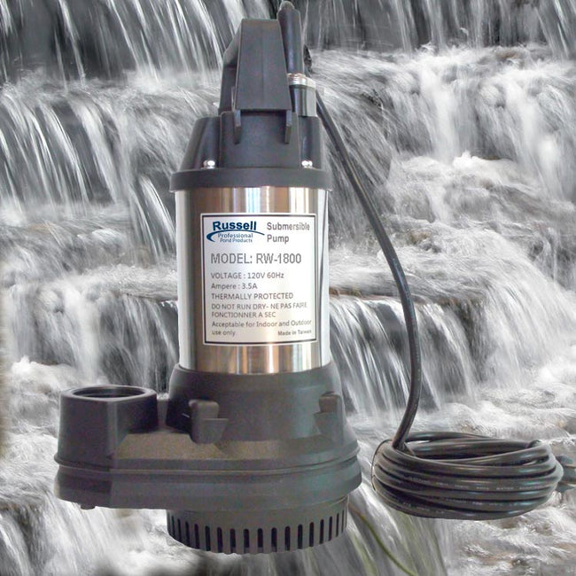 RW-1800 Prefessional Submersible Pond and Waterfall Pump