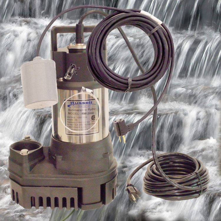 RW-2800 Pond and Waterfall Pump with auto ON/OFF float switch