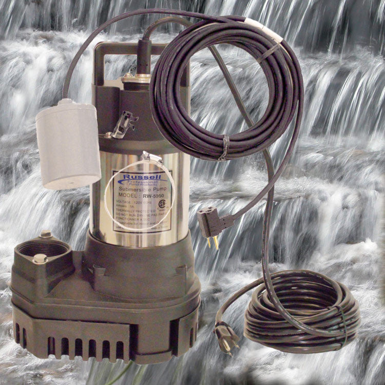 RW-5950 Pond and Waterfall Pump with removable Fishguard