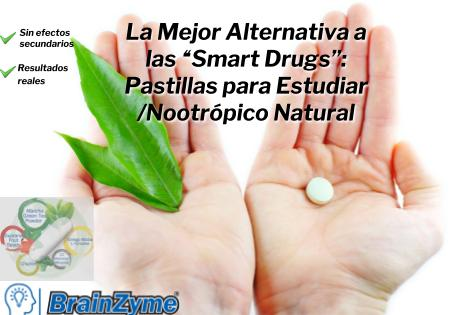 Mejor Alternativa a las Smart Drugs: Pastilla para Estudiar/Natural/30