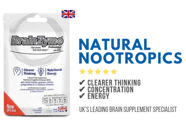 BrainZyme natural nootropics support concentration